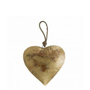 Le coeur or corde 18cm