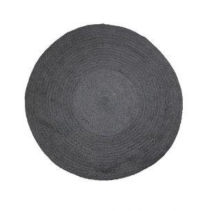 Toile de jute tapis noir Ø120cm