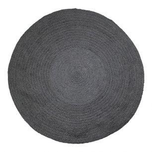 Toile de jute tapis noir Ø170cm