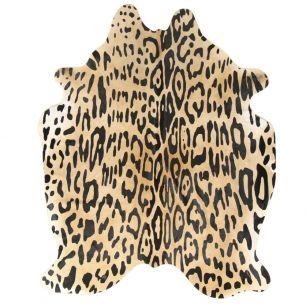 Tapis vache empreinte de jaguar