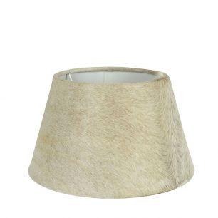 Abat-jour peau de vache beige 30cm