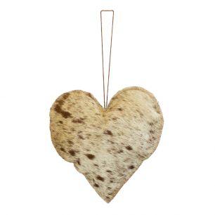 Décoration à accrocher cœur naturel grand 20cm