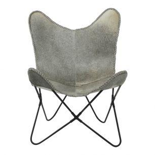 Papillon chaise vache gris  (à monter soi-même) max. 100 kg