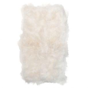 Plaid 4-peau mouton islande blanc 130x200cm