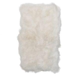 Plaid 6-peau mouton islande blanc 210x200cm