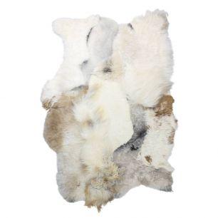 Plaid mouton islande melange mix claire 120x180cm