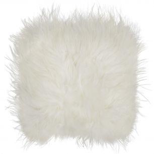 Coussin d'assise mouton islande blanc 37x37cm