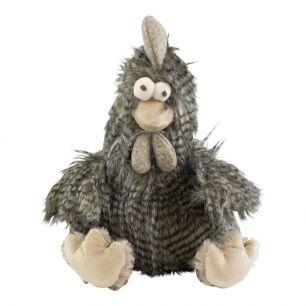Doudou cheveux longs coq gris 29cm