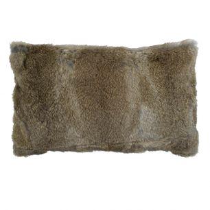 Coussin lapin brun 30x50cm