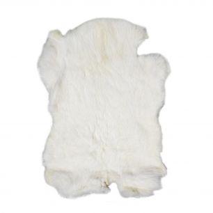 Peau lapin blanc