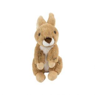 Doudou lapin marron assis 21cm