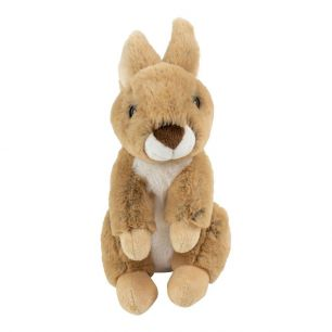 Doudou lapin marron assis 23cm