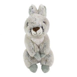 Doudou lapin gris assis 21cm
