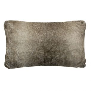 Coussin loup l'hiver gris 30x50cm