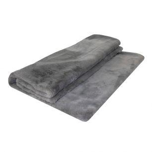 Plaid foncé gris 130x170cm